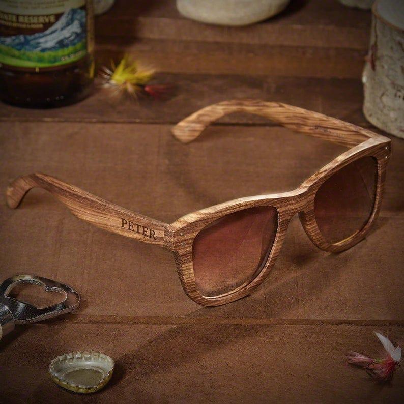 mens genuine bamboo sunglasses