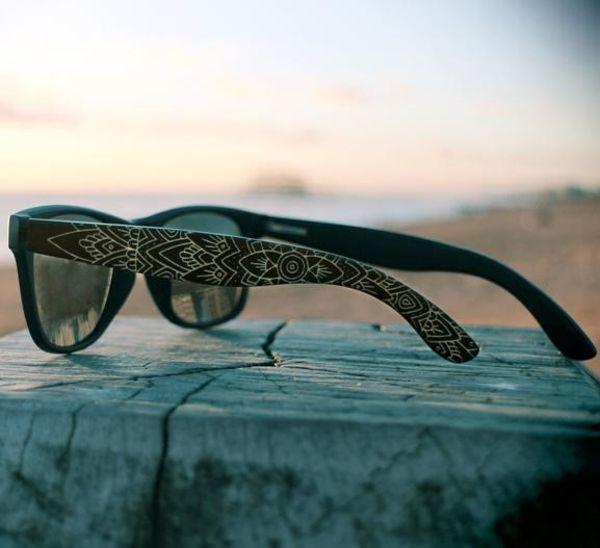mens mandala engraved sunglasses