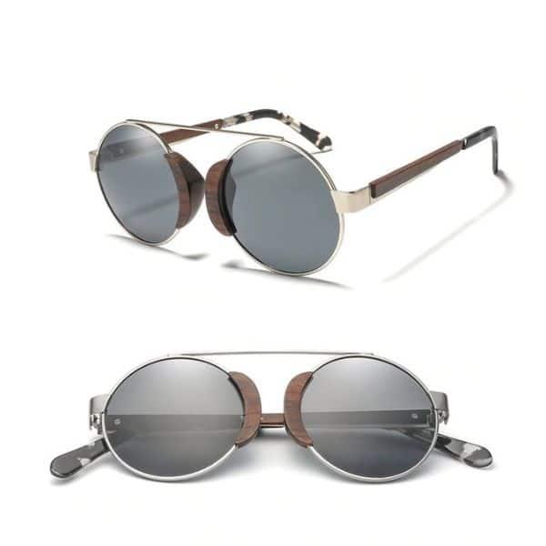 mens vintage wood sunglasses