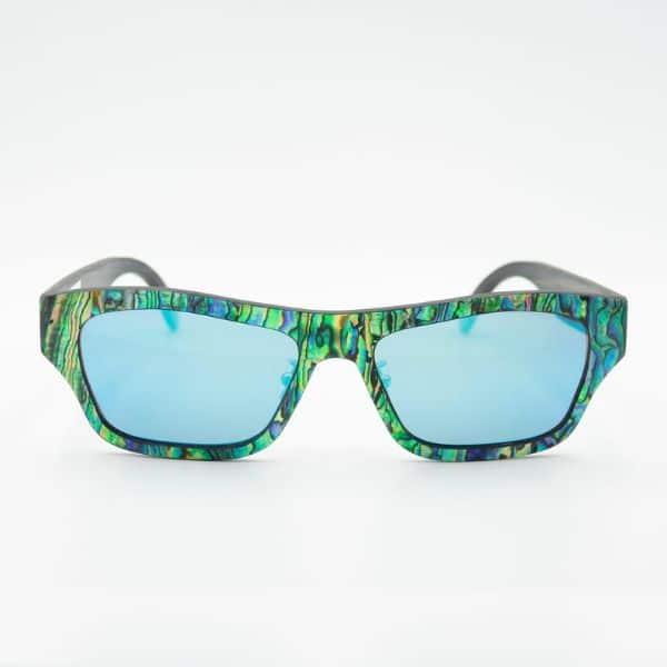 mens wooden abalone sunglasses