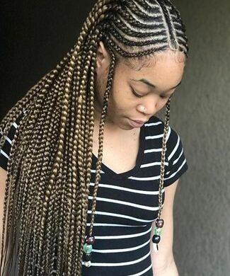 Classic Fulani braids